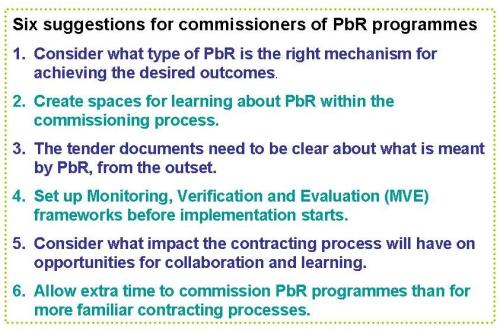 Six suggestions for commissioners of Payment By Results programmes